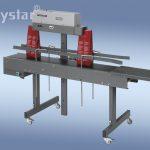 Polystar® 400 DSM földön lévő, állítható magasságú állvány szállítószalaggal