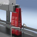 Polystar® 400 DSM földön lévő, állítható magasságú állvány szállítószalaggal közeli