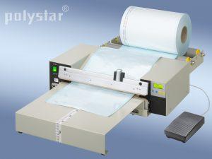 Polystar® 418 M-RPA munkaasztallal és fóliatekercstartó görgőkkel