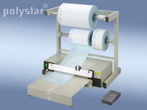 Polystar® 418 M-RPA munkaasztallal és fóliatekercstartó állvánnyal